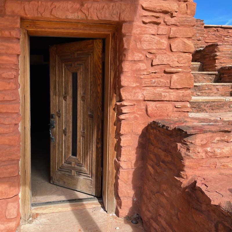 House of Apache Fires Front Door