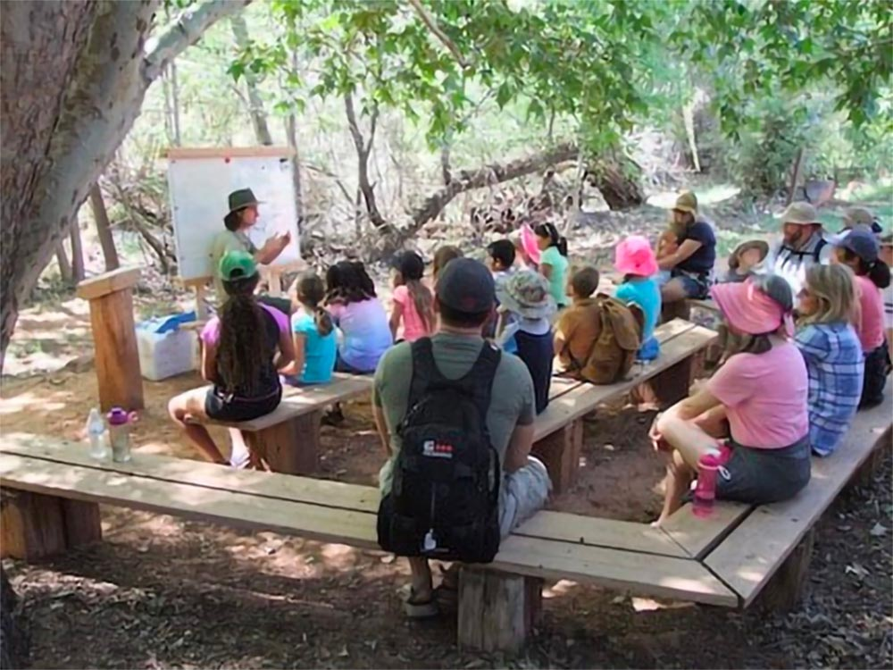Outdoor classroom at Red Rock State Park