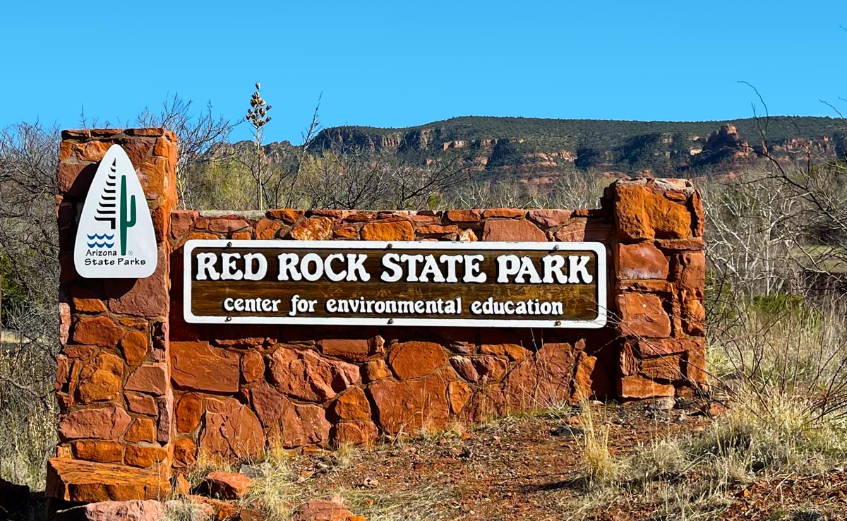 Sign at Red Rock State Park