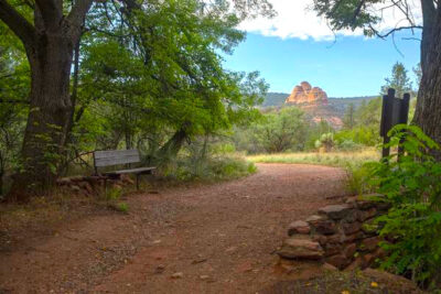 Hiking trail at Red Rock State Park