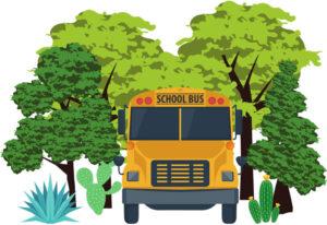school-bus-park-trees